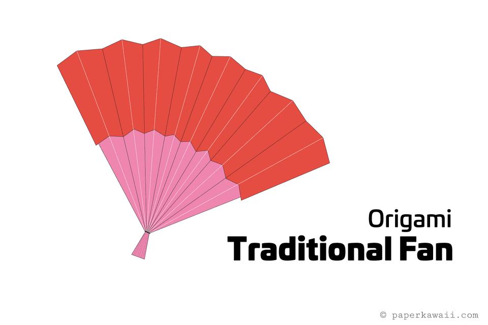easy origami fan tutorial 1