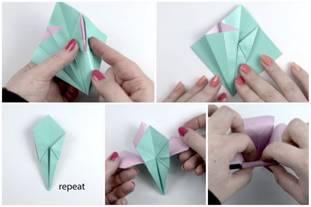Make an easy origami lily flower origami flower tutorial 06 paper kawaii mightylinksfo