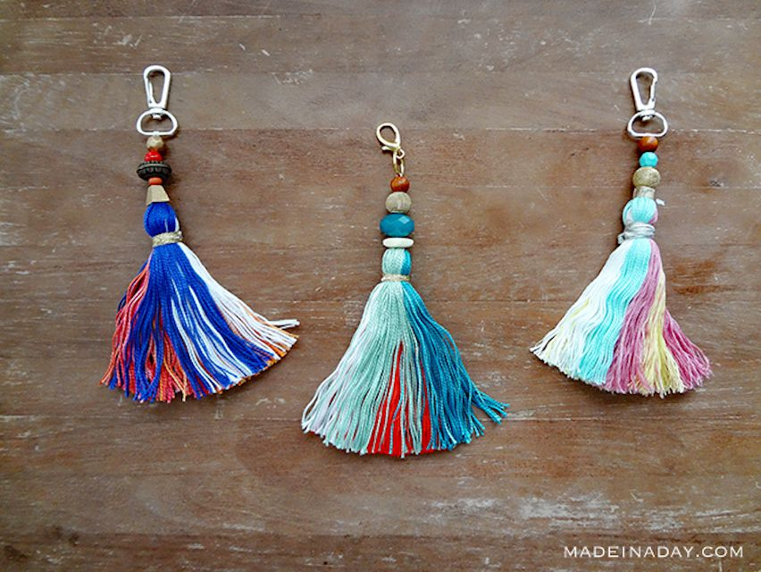 Anthropologie-inspired keychains