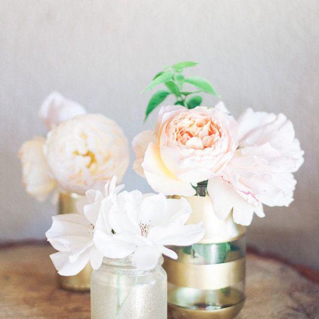 Gold and Glitter Vase