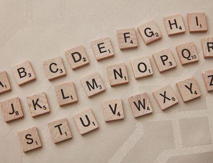 the entire scrabble alphabet