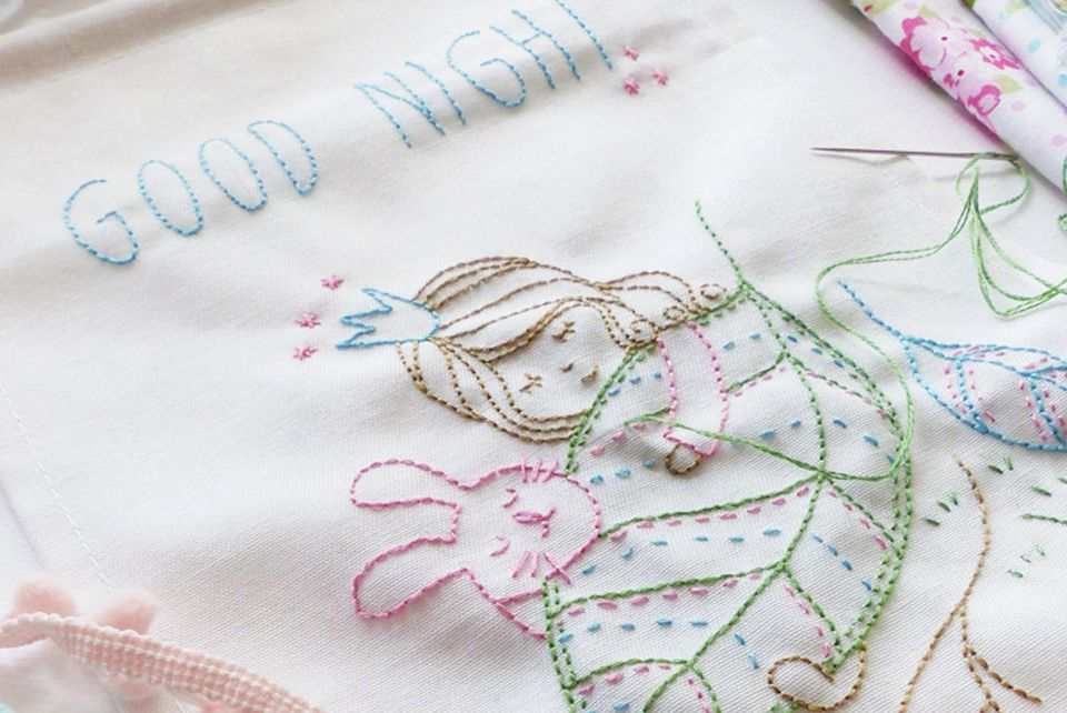Good Night Embroidery Pattern