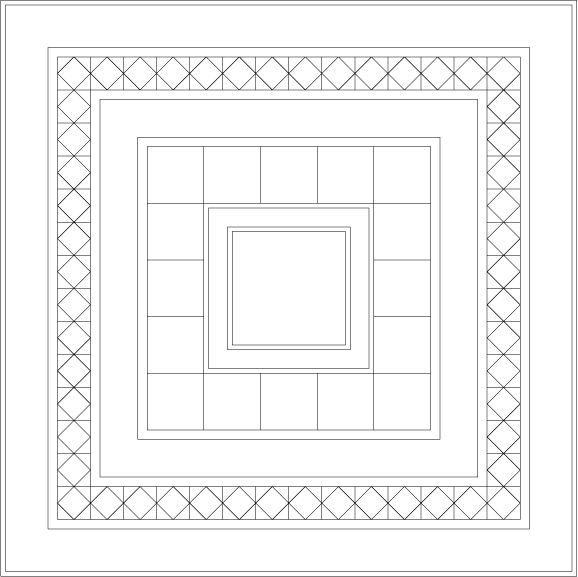Medallion Sampler Quilt Layout Drawing