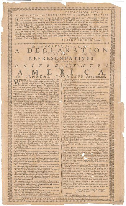 Rare Copy of the Declaration of Independence