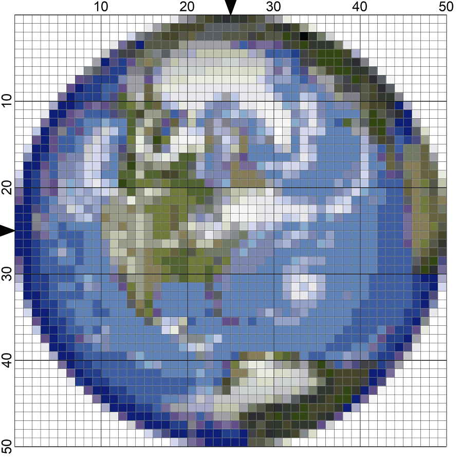242planet earth needlepoint chart