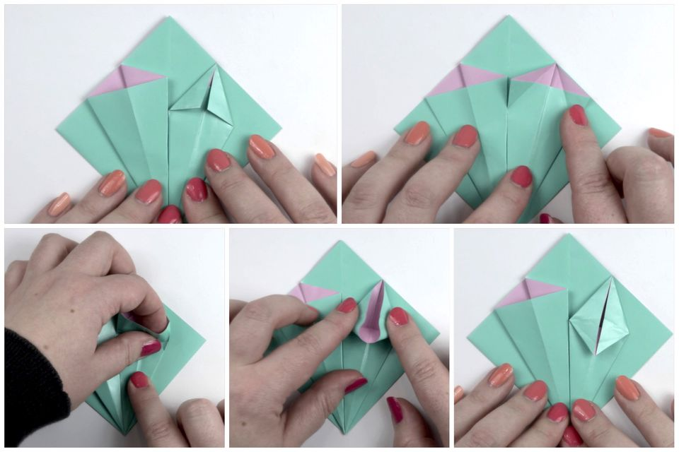 Make an easy origami lily flower fold the flower stem mightylinksfo