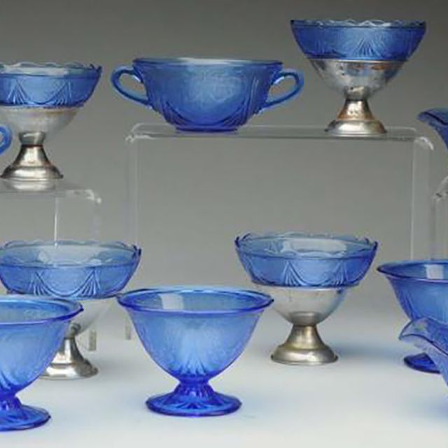 Cobalt Blue Depression Glass Colors, Vintage Blue Glassware