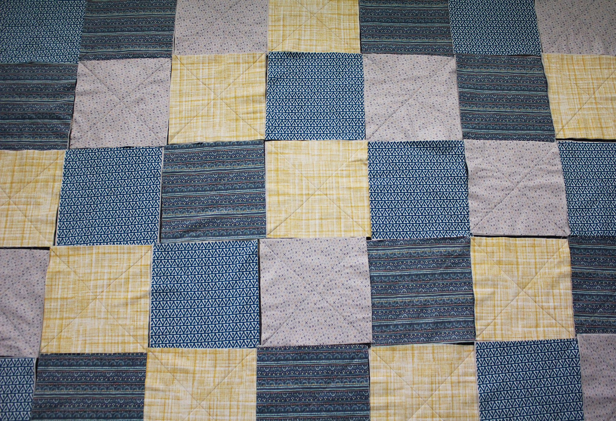 Quilt squares in a random pattern
