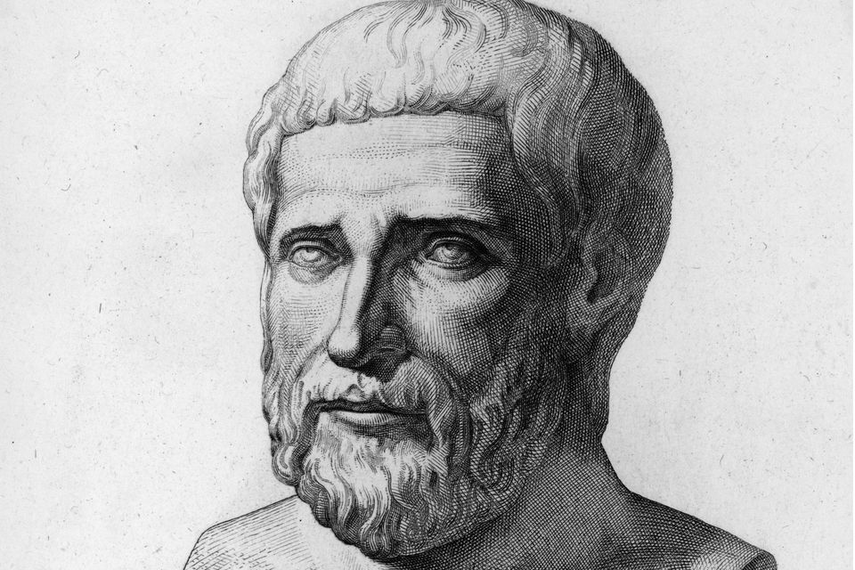 Circa 540 BC, Pythagoras (c.580-500BC). Greek philosopher and mathematician. Born in Samos, after extensive travels settled in Crotona, a Greek colony in southern Italy c. 530 BC, where Pythagoreanism developed as a religious, reformist brotherhood, thought to have pro