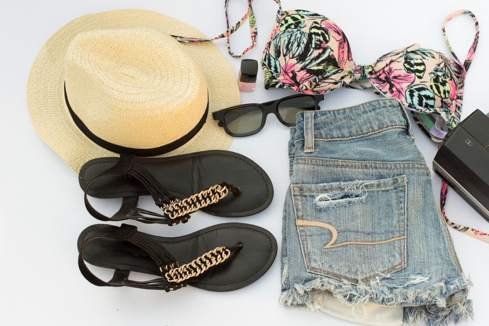 Summer clothes and jean shorts