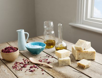 supplies and ingredients for making soap