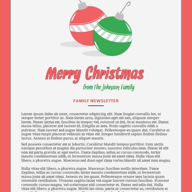 Christmas Letter Template Microsoft Word from www.thesprucecrafts.com