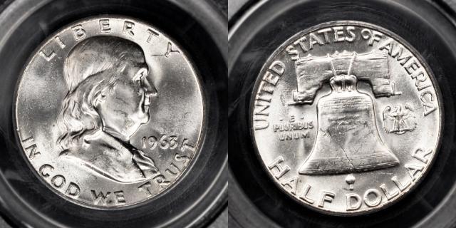 Franklin Half Dollar Graded Mint State-63 (MS63)
