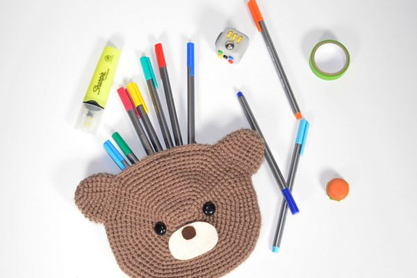 Crochet Bear Pouch