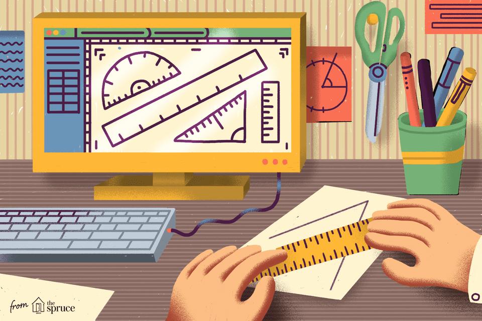 Illustration of hands holding a paper ruler