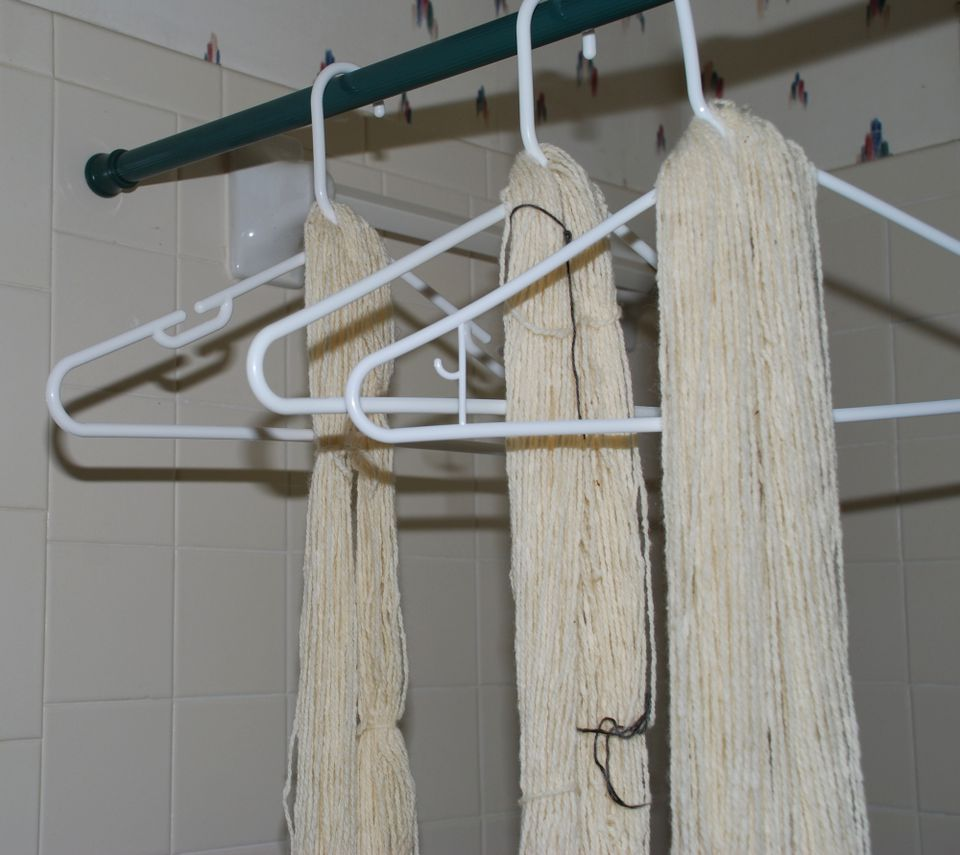 Washing Hanks of Yarn