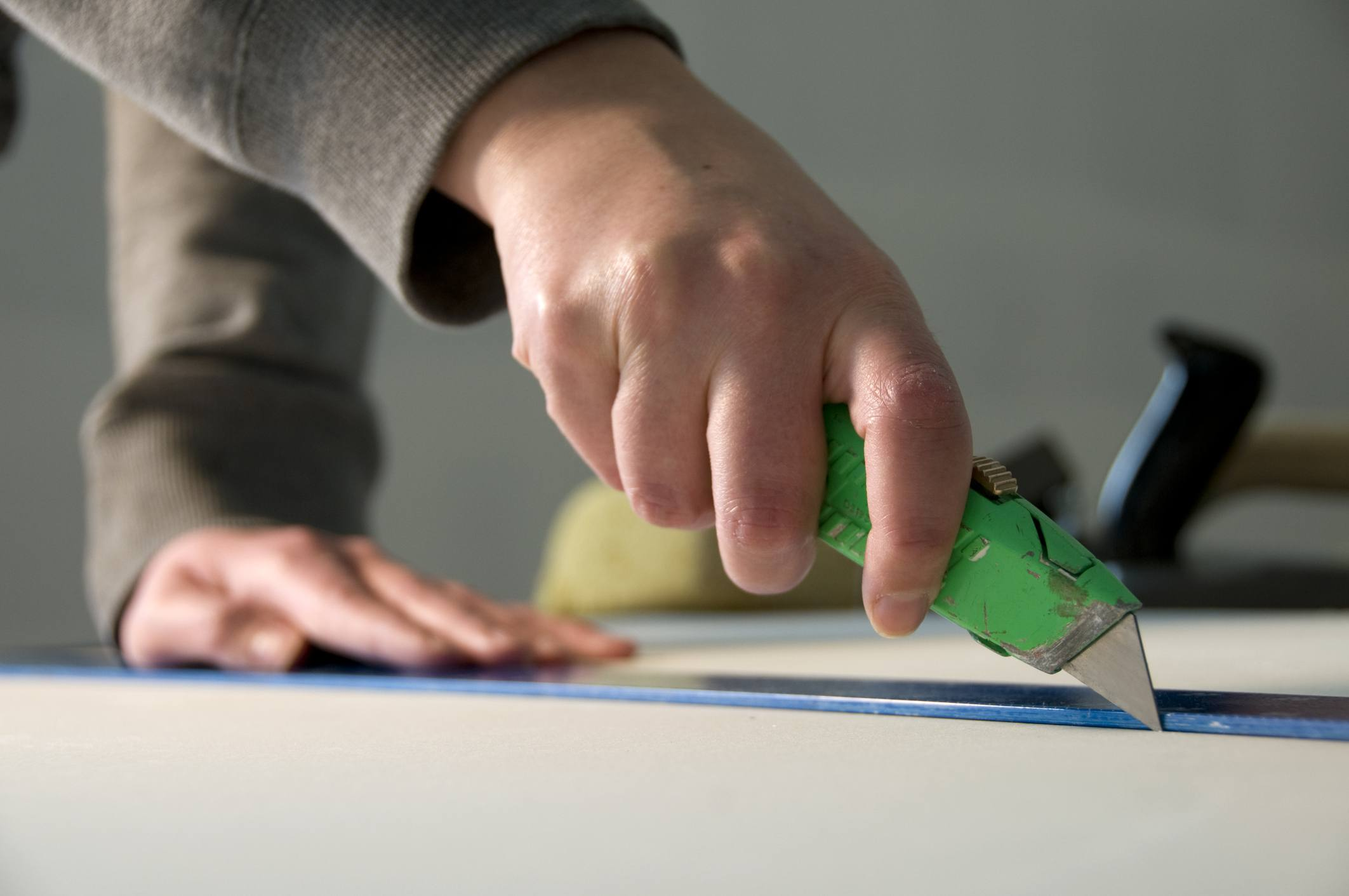 Cutting with knife