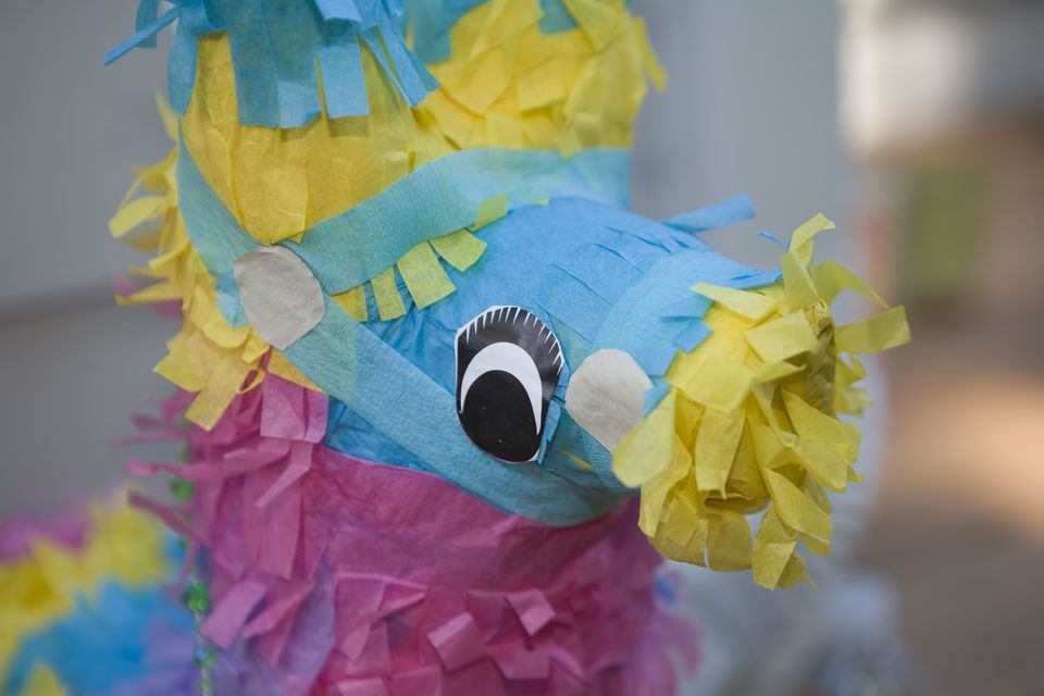 Close-up of colorful pinata