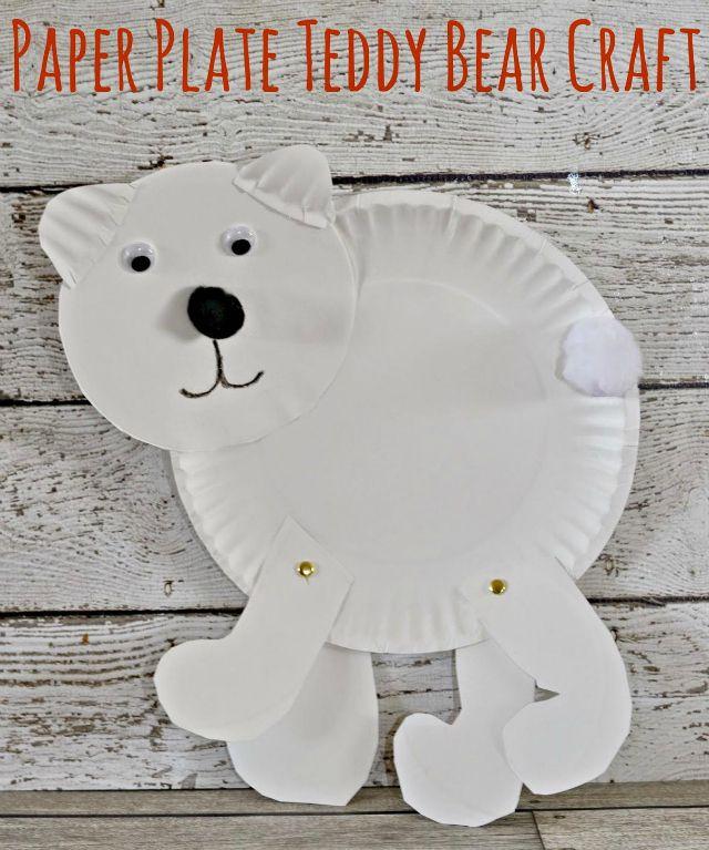 Paper Plate Teddy Bear Craft