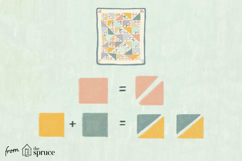 Illustration of quilt squares