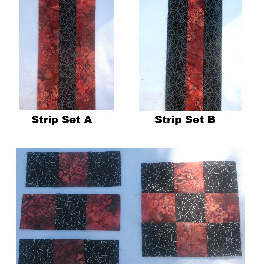 The center nine patch quilt blocks