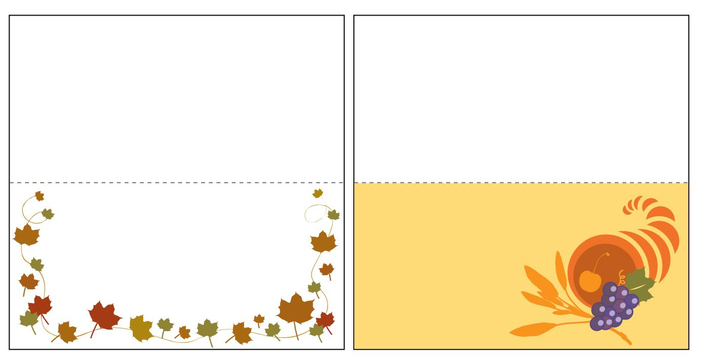 elegant thanksgiving place cards - Thanksgiving Place Cards
