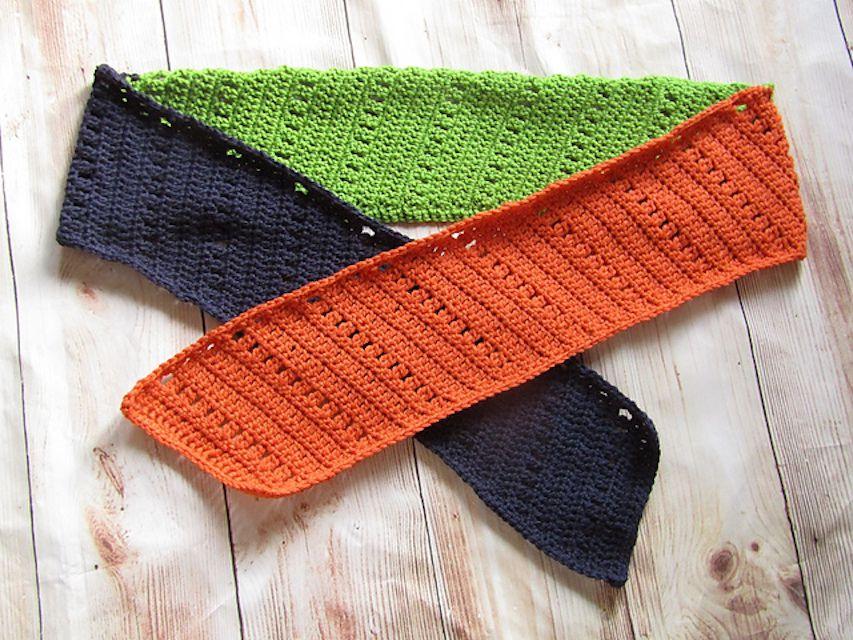 Skinny Scrap Yarn Crochet Scarf