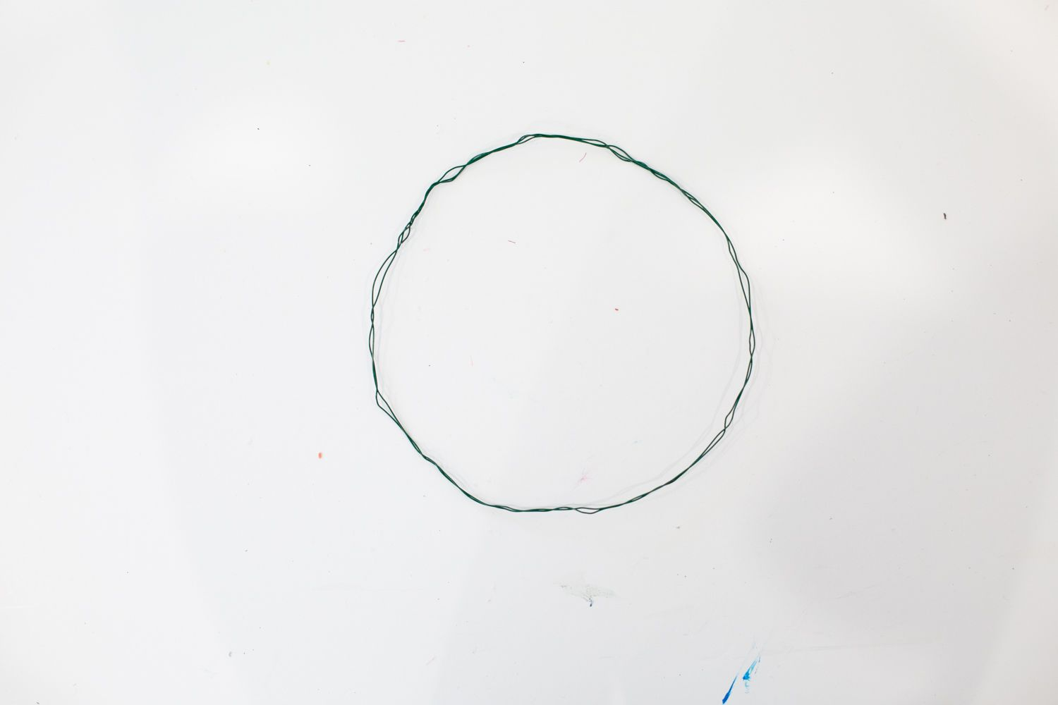 Wire base for DIY faux flower crown