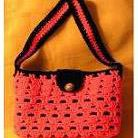 Lined Crochet Bag in Boxed Shell Stitch by Sandi Marshall