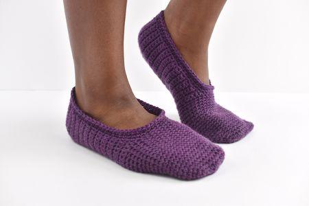 a3718315e How to Crochet Simple Slippers. Mollie Johanson. Free crochet slipper  patterns ...