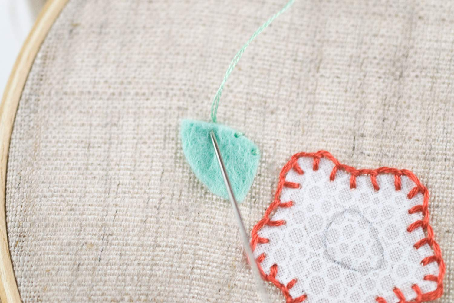 Applique stitch: how to back stitch appliqué made to sew. blanket