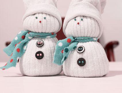 Sock snowman craft