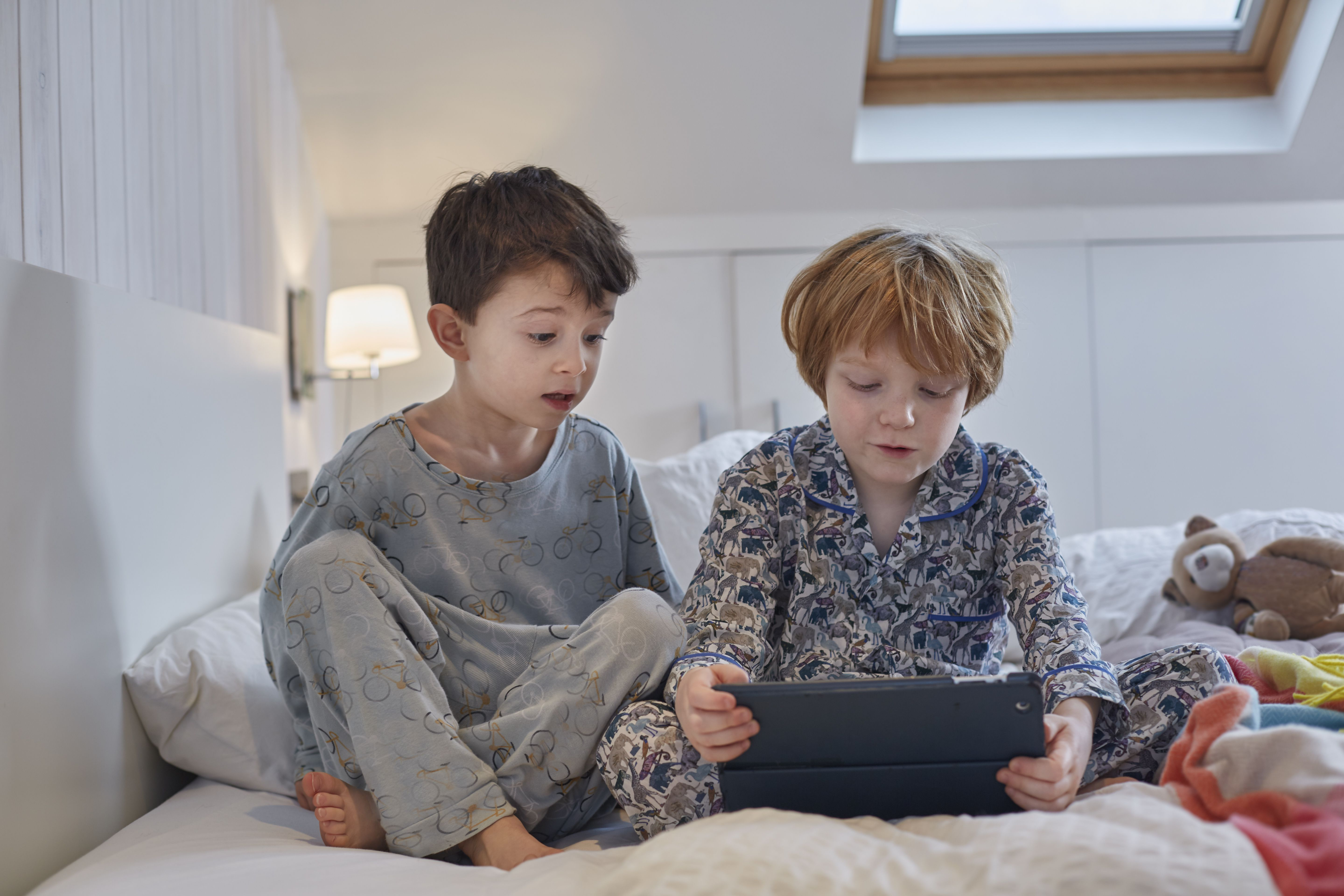 15 Free Diy Loft Bed Plans For Kids And Adults Diagram Of Computer Parts Boys In Pyjamas Using Digital Tablet