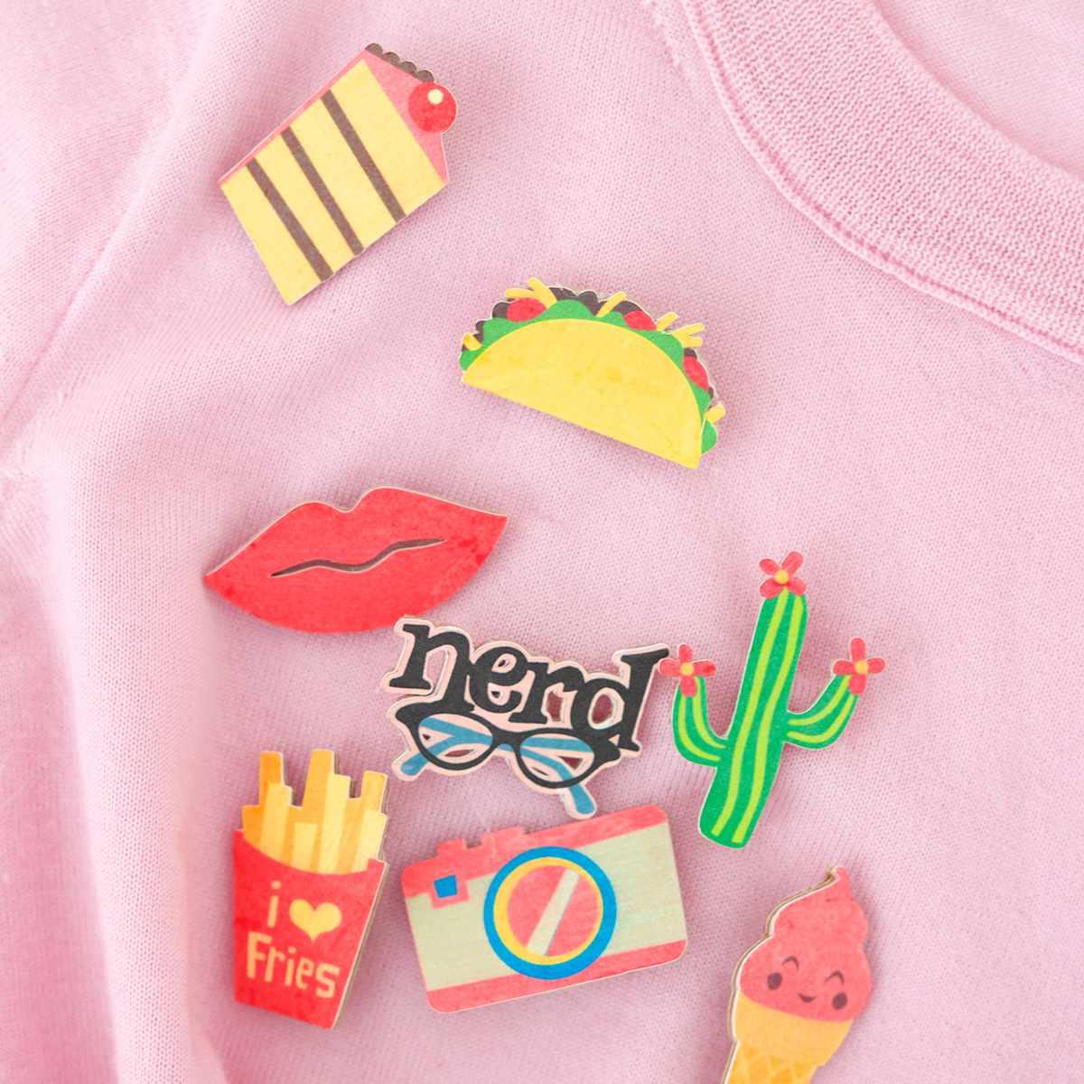 DIY Cactus Flair Pin