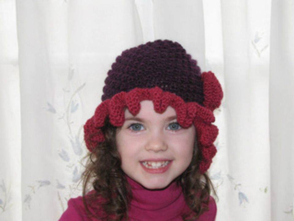 "Adult Flapper Girl Hat. This is the larger 22"" size, shown on Hedy, a smaller 20"" head form."