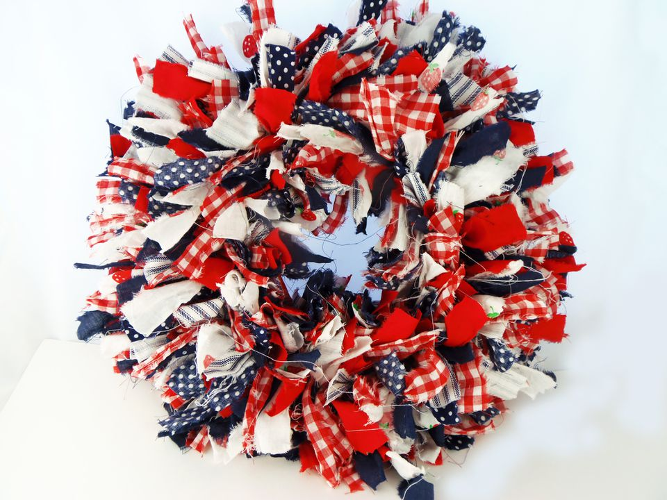 Rag Wreath Craft Project
