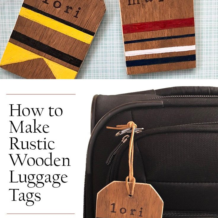 Rustic Wooden Luggage Tags