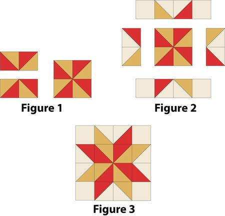 Carpenters Star Quilt Block Pattern