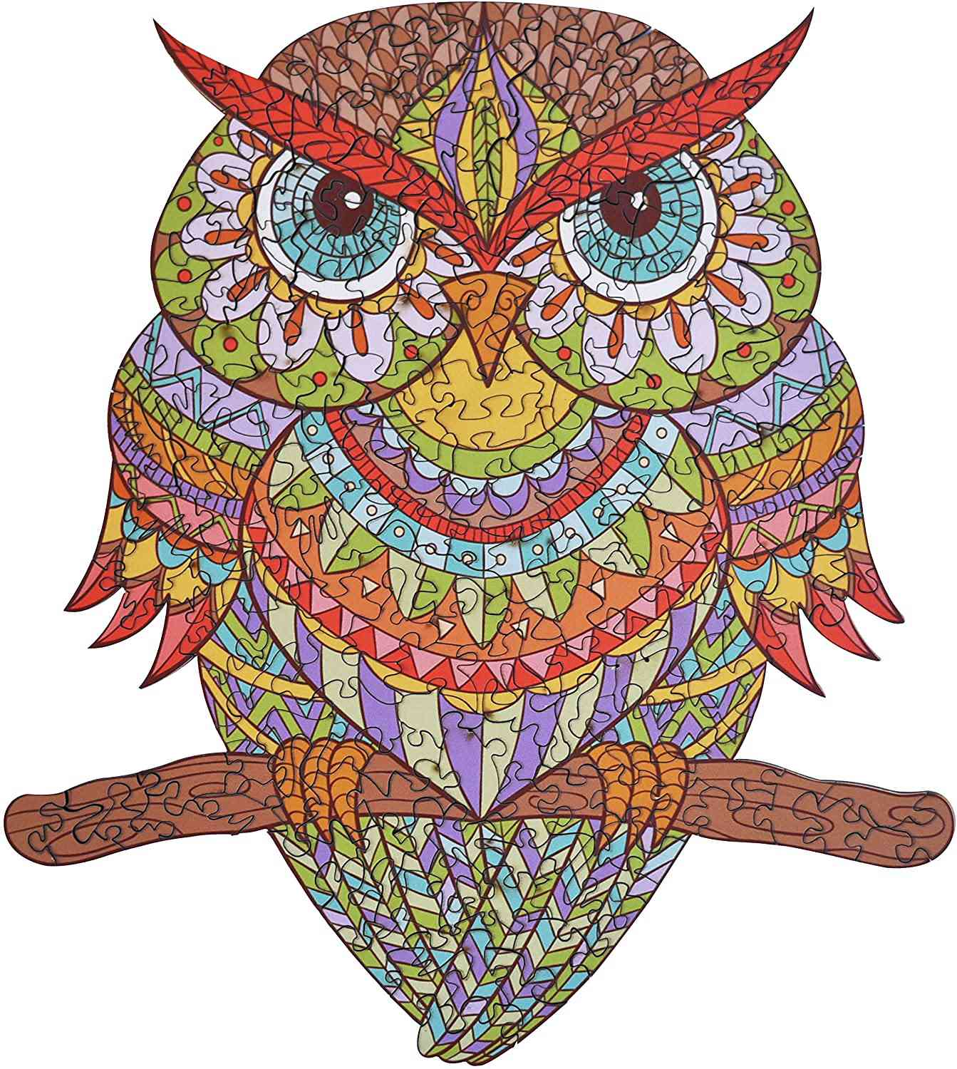 Wooden Jigsaw Puzzles - Colorful Owl Hartmaze