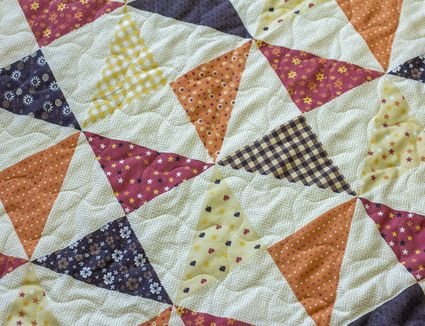 Quarter-Square Triangle Units in a Quilt