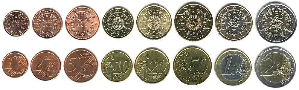 These coins are currently circulating in Portugal as money.