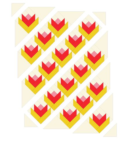 Little Tulips Baby Quilt Pattern