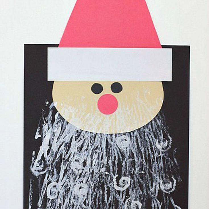 Painted Beard Santa