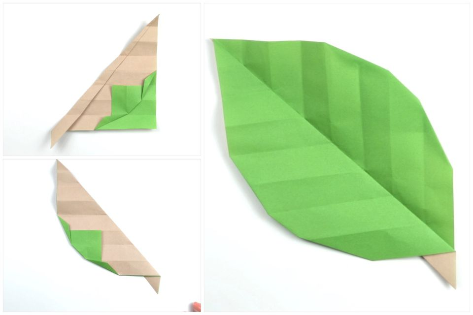 Origami Leaf Tutorial 0