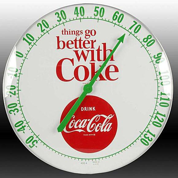 Things Go Better with Coke Collectibles Thermometer