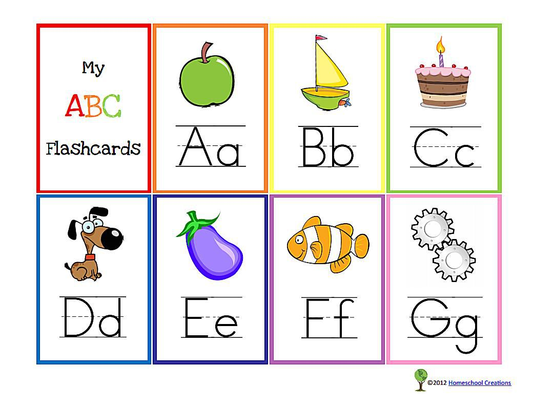 11 Sets of Free, Printable Alphabet Flashcards