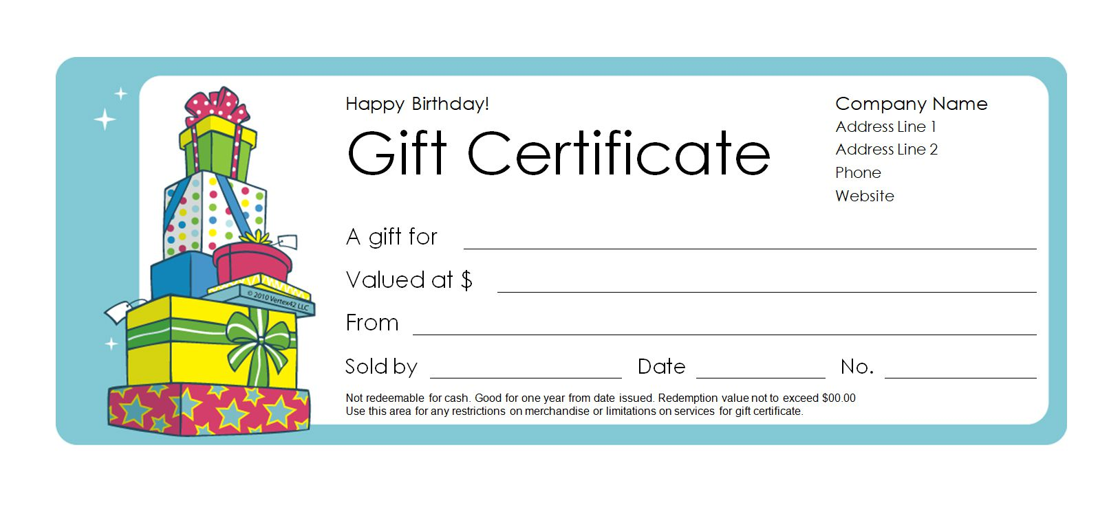 173 free gift certificate templates you can customize a birthday gift certificate template maxwellsz
