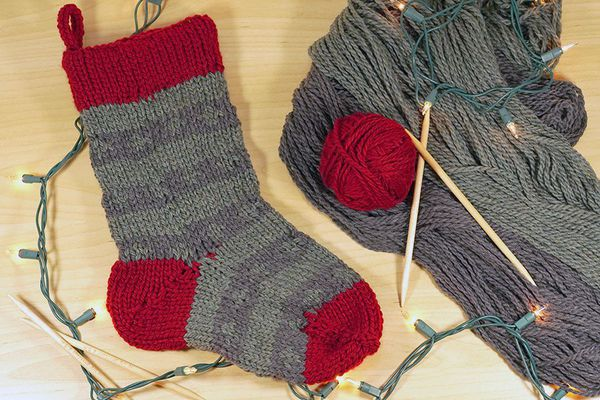 A knitted sock
