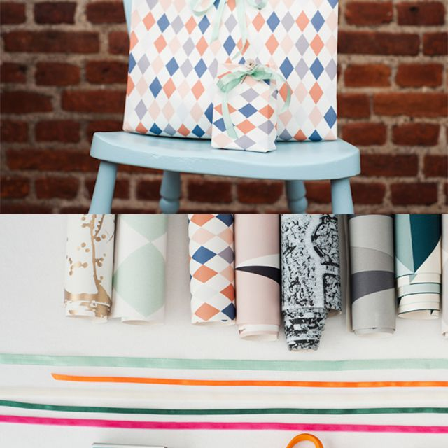 how to make a gift bag using wallpaper