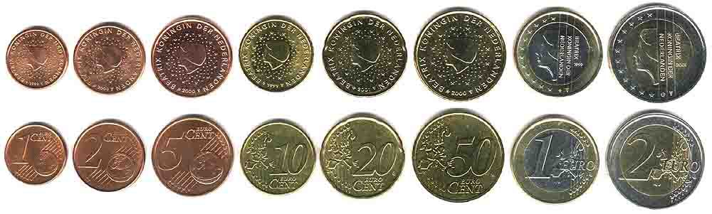 These coins are currently circulating in the Netherlands as money.